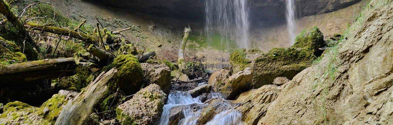 Scheidegger Wasserfälle im Westallgäu an den Westallgäuer Wasserwegen © Scheidegg Tourismus