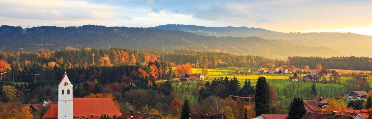 Gemeinde Hergatz im Westallgäu Wohmbrechts Sonnenuntergang