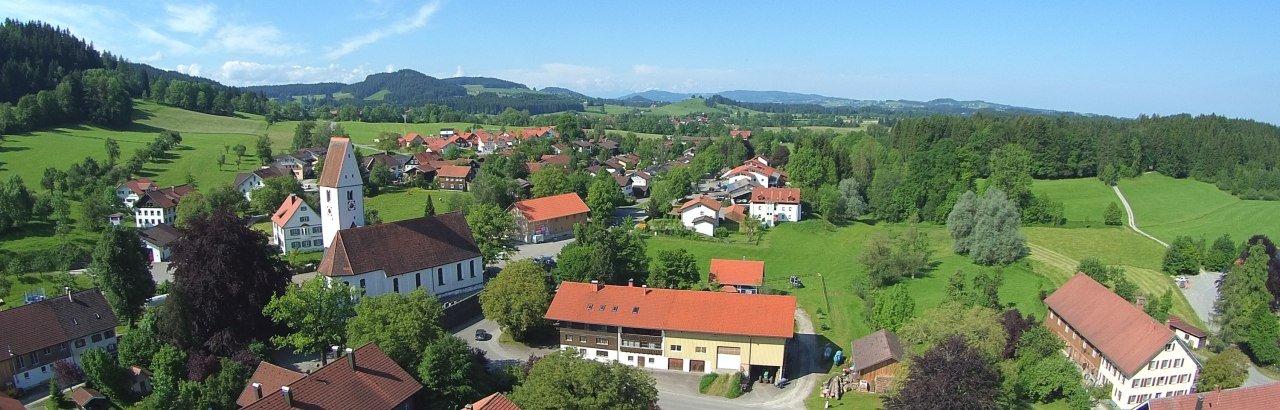 Gemeinde Grünenbach im Westallgäu Ortsansicht