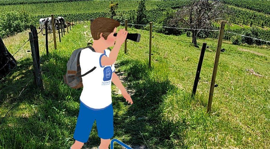 Avatar Max mit Fernglas auf Entdeckungstour durch den Landkreis Lindau