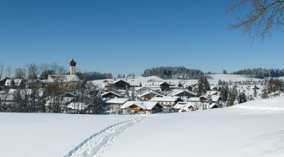 Oberreute Winter Ortsansicht