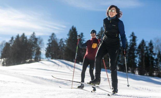 Gespurte Langlaufloipen im Westallgäu