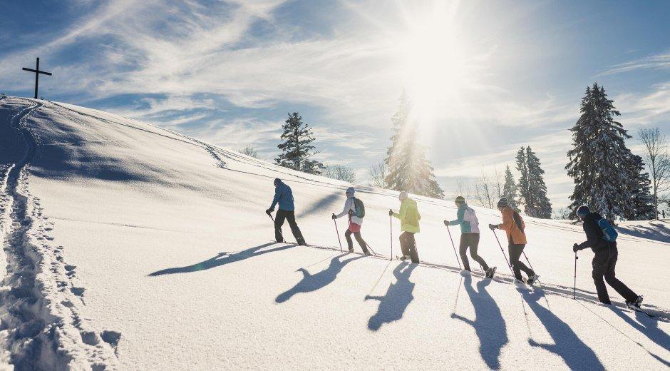Winterliche Schneeschuhwanderung © Frederick Sams, Landkreis Lindau (Bodensee)