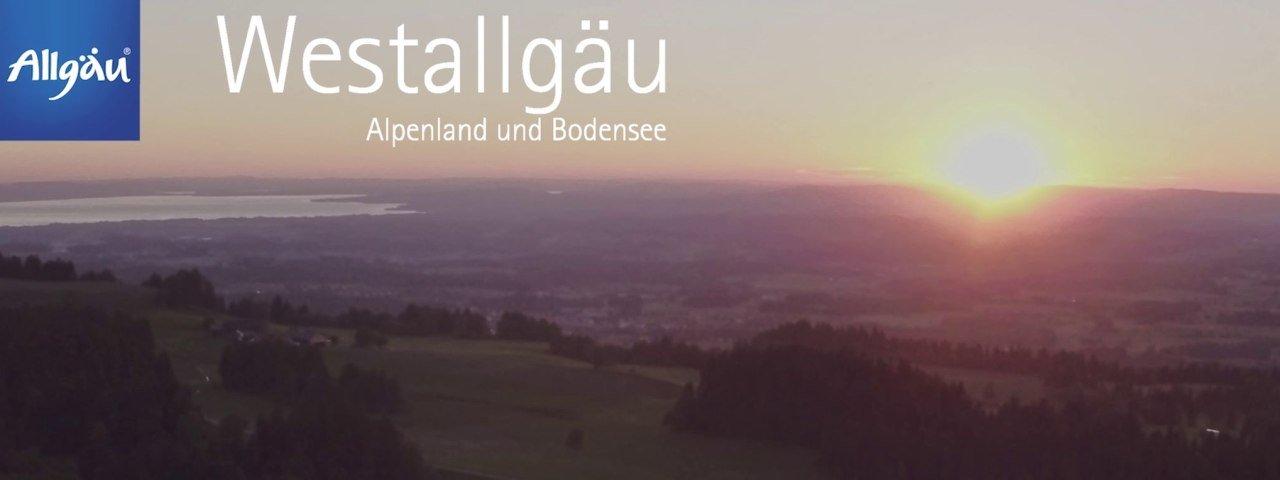 Sonnenuntergang vom skywalk allgäu in Scheidegg aus gesehen