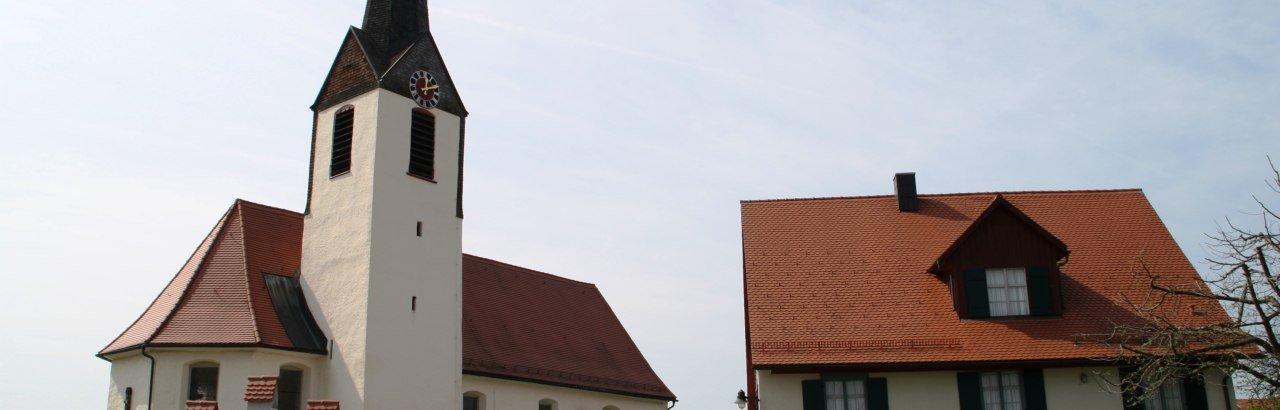 Hergensweiler mit Kirche und Museum