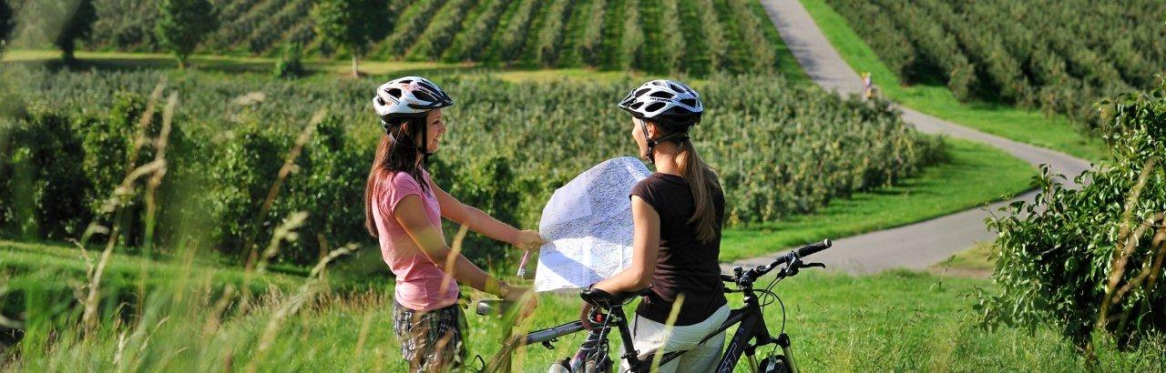 Radfahren auf den Fahrradwegen im Allgäu