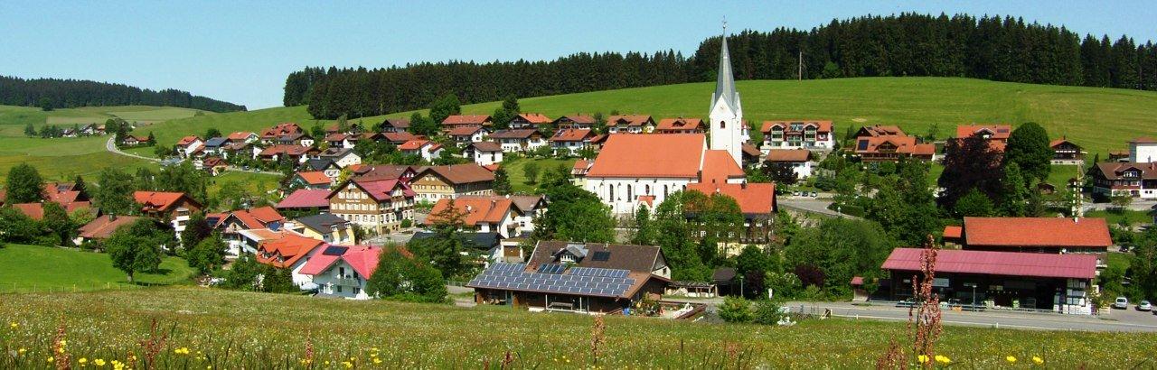 Gemeinde Stiefenhofen im Westallgäu Ortsansicht