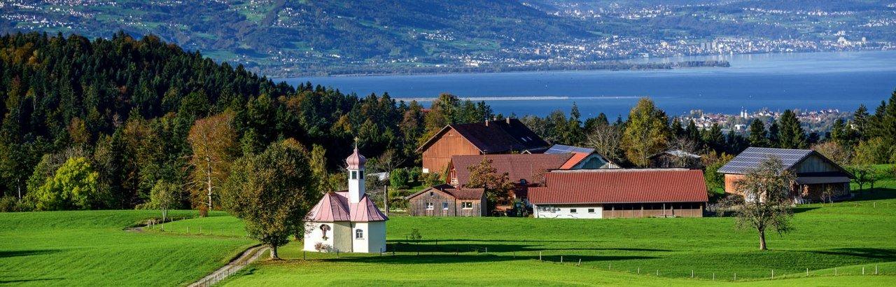 Landschaft mit Ausblick Westallgäu