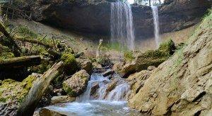Scheidegger Wasserfälle im Westallgäu an den Westallgäuer Wasserwegen, © Scheidegg Tourismus