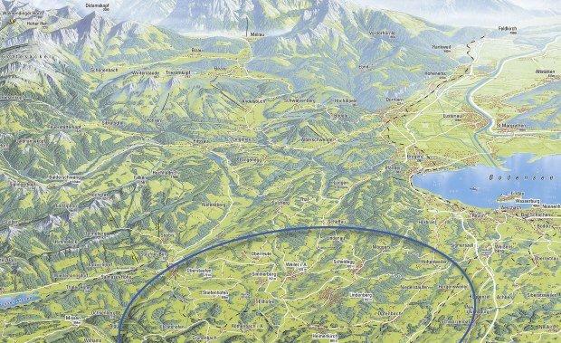 Karte Westallgäu © Landratsamt Lindau (Bodensee)