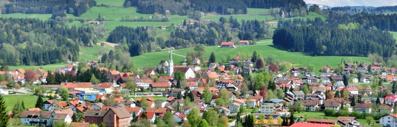 Gemeinde Weiler-Simmerberg im Westallgäu Ortsansicht