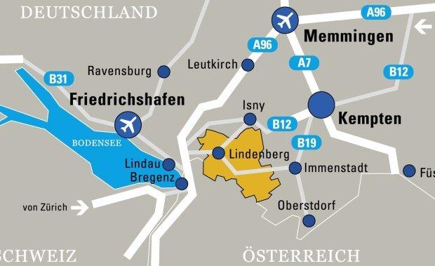 Bild für die Anreise ins Westallgäu